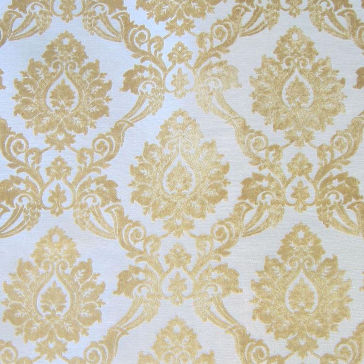 Yellow Cut Velvet Designer Upholstery Fabric Godiva