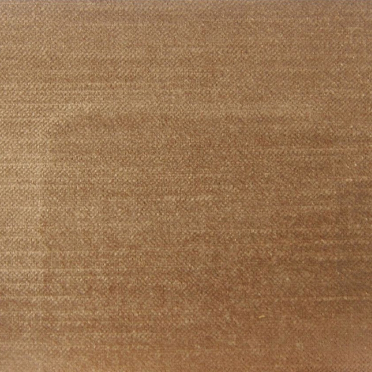 Light Brown Velvet Designer Upholstery Fabric Imperial