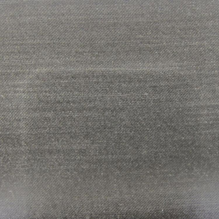 Grey Charcoal Velvet Designer Upholstery Fabric Imperial