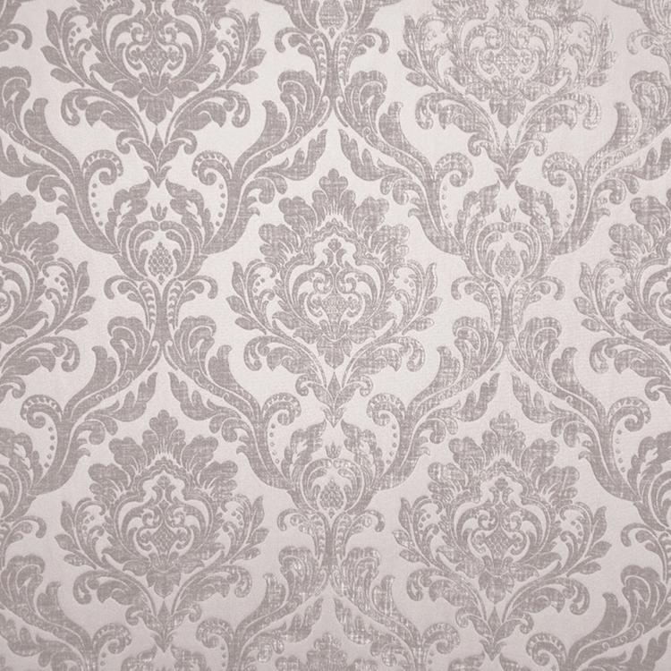 Taupe Cream Chenille Damask Designer Upholstery Fabric Marcus