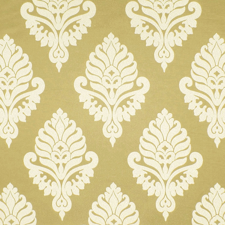 Gold Damask Woven Designer Upholstery Fabric Shelby