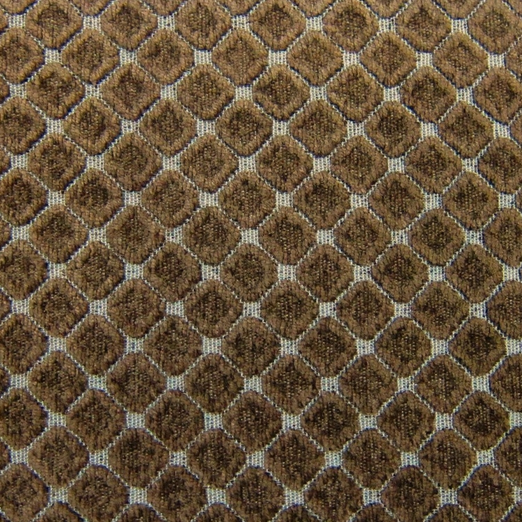 chocolate brown geometric chenille designer upholstery fabric