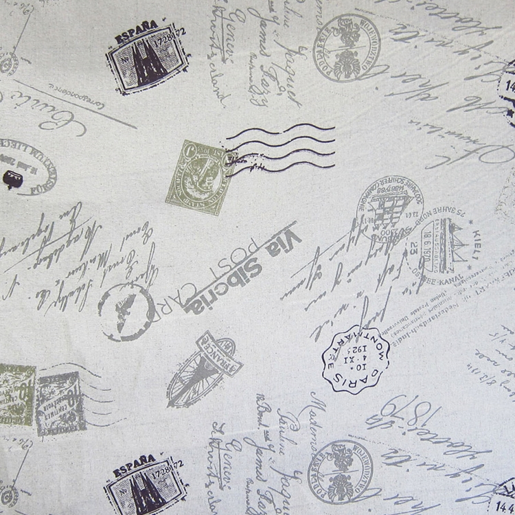 taupe novelty linen blend designer upholstery fabric par avion