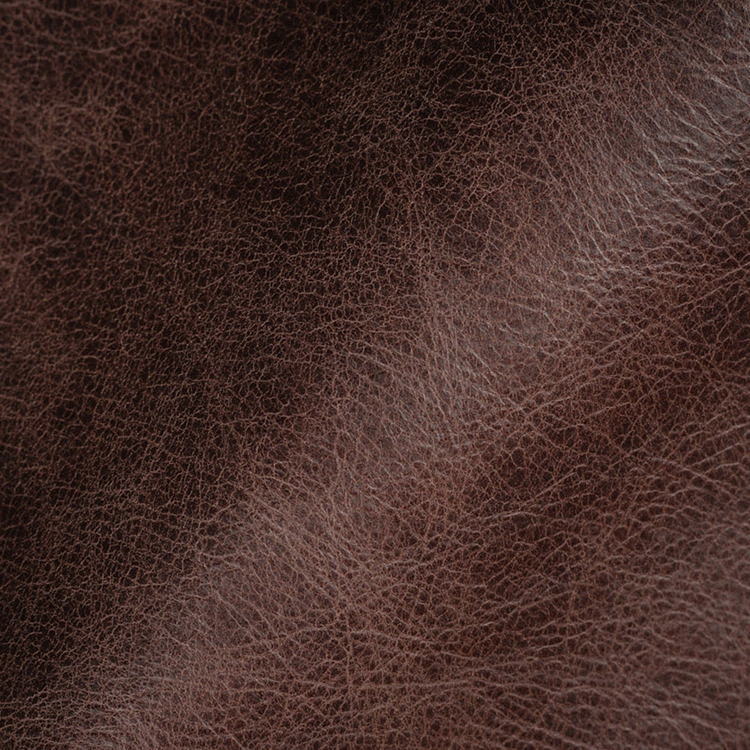 Chocolate Brown Leather Upholstery Designer Fabric