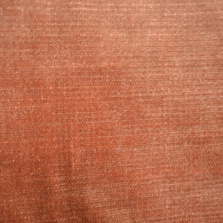 Pink Orange Velvet Designer Upholstery Fabric Shimmer