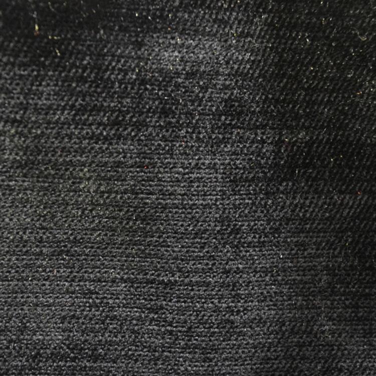Black Velvet Upholstery Fabric Shimmer Black