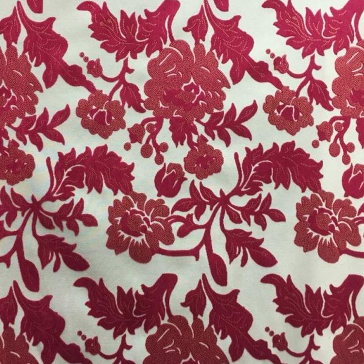 Cerise Cut Velvet Fuschia Velvet Upholstery Fabric Vidara