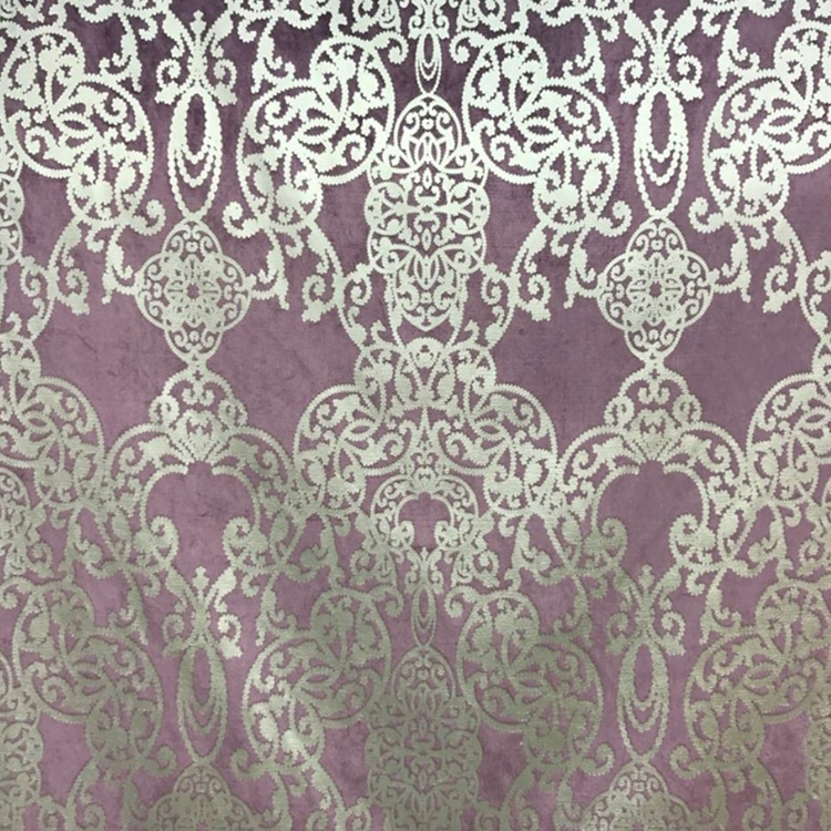 Capilla Amethyst Damask Fabric Upholstery Fabric