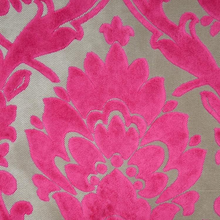 Cheshire Fuchsia Damask Upholstery Fabric Hautehousefabric Com