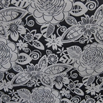 Haute House Fabric - Fiesta Black - Floral #2863