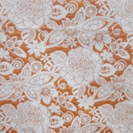 Haute House Fabric - Fiesta Orange -  Floral #2867