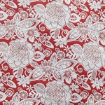 Haute House Fabric - Fiesta Red - Floral #2869