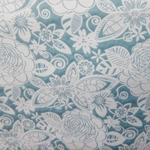 Haute House Fabric - Fiesta Turquoise - Floral #2872