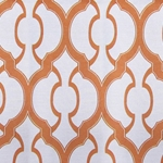 Haute House Fabric - Mila Orange - Geometric Upholstery Fabric