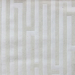Haute House Fabric - Amazement Cream - Chenille Geometric Fabric #2892