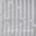 Haute House Fabric - Amazement Silver - Chenille Geometric Fabric #2895