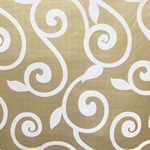 Haute House Fabric - Rene Beige - Contemporary Upholstery Fabric
