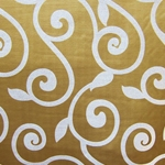 Haute House Fabric - Rene Brass - Gold Contemporary Fabric