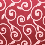 Haute House Fabric - Rene Cranberry - Red Contemporary Fabric