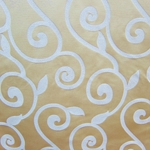 Haute House Fabric - Rene Cream - Gold Contemporary Fabric
