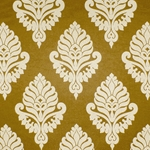 Haute House Fabric - Shelby Gold - Damask Fabric #2918