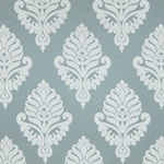 Haute House Fabric - Shelby Silver - Damask Fabric #2922