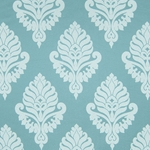 Haute House Fabric - Shelby Teal - Damask Fabric #2923
