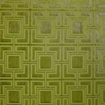 Haute House Fabric - Hollyhock Apple - Geometric Chenille Fabric #3004