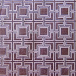 Haute House Fabric - Hollyhock Lilac - Geometric Chenille Fabric #3009