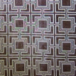 Haute House Fabric - Hollyhock Mocha - Geometric Chenille Fabric #3010