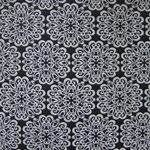 Haute House Fabric - Pizelles Black - Geometric Woven Fabric #3016