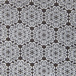 Haute House Fabric - Pizelles Espresso - Geometric Woven Fabric #3017