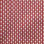 Haute House Fabric - Pearls Red - Woven Circle Fabric #3049