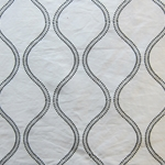 Haute House Fabric - Hour Glass White - Contemporary Fabric #3114
