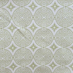 Haute House Fabric - Medallion Apple - Woven Fabric #3129