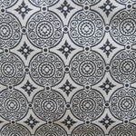 Haute House Fabric - Medallion Black - Woven Fabric #3132