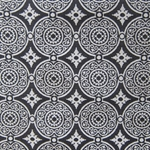 Haute House Fabric - Medallion Ebony - Woven Fabric #3134