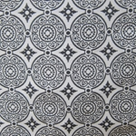 Haute House Fabric - Medallion Ebony - Woven Fabric #3136