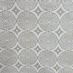 Haute House Fabric - Medallion Latte - Woven Fabric #3140