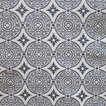 Haute House Fabric - Medallion Navy - Woven Fabric #3144