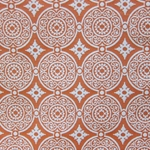 Haute House Fabric - Medallion Orange - Woven Fabric #3146