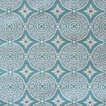Haute House Fabric - Medallion Turquoise - Woven Fabric #3148