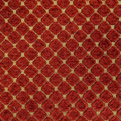 Haute House Fabric - Cobblestones Cranberry - Chenille Fabric #3158
