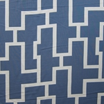 Haute House Fabric - Puzzled Ocean - Woven Fabric #3261