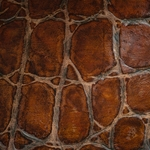 Haute House Fabric - Falls Bourbon - Leather Upholstery Fabric #3443