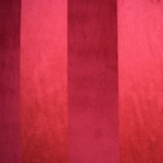 Haute House Fabric - Louise Cranberry -Velvet Stripe #3847