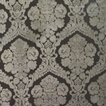 Haute House Fabric - Baron Charcoal - Damask Velvet #3865