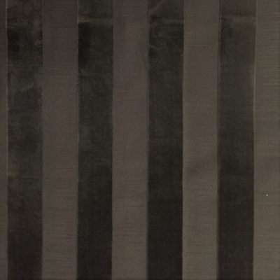 Haute House Fabric - Bande Charcoal - Stripe Velvet #3897