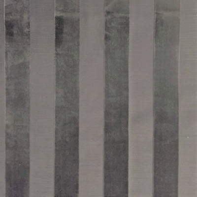 Haute House Fabric - Bande Gray - Stripe Velvet #3900