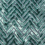 Haute House Fabric - Devious Jade - Chevron Velvet #3920